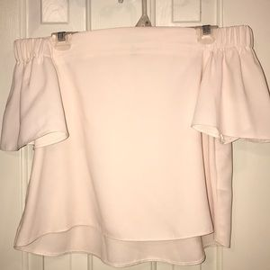 TOPSHOP off the shoulder white/cream top!!